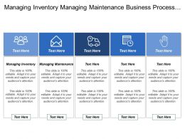 Managing Inventory Managing Maintenance Business Process Alignment Model