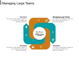 Managing Large Teams Ppt Powerpoint Presentation Gallery Example Cpb