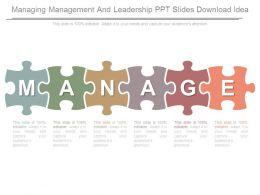 Managing Management And Leadership Ppt Slides Download Idea