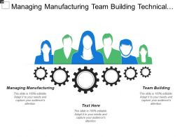 Managing Manufacturing Team Building Technical Credibility Problem Solving
