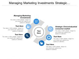 Managing Marketing Investments Strategic Choice Industrial Consumer Markets