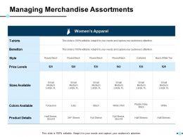 Managing Merchandise Assortments Ppt Show Portrait