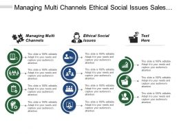 Managing Multi Channels Ethical Social Issues Sales Professionalism