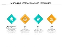 Managing Online Business Reputation Ppt Powerpoint File Design Ideas Cpb