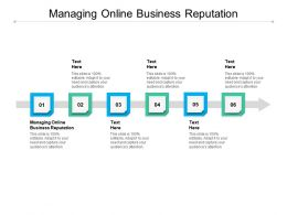 Managing Online Business Reputation Ppt Powerpoint Presentation Inspiration Graphic Tips Cpb