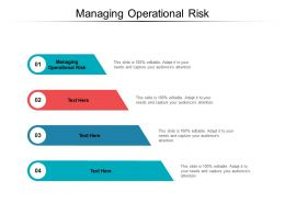 Managing Operational Risk Ppt Powerpoint Presentation Inspiration Display Cpb