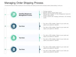 Managing Order Shipping Process Inventory Management System Ppt Rules