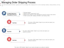 Managing Order Shipping Process Stock Inventory Management Ppt Brochure