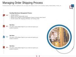 Managing Order Shipping Process Warehousing Logistics Ppt Template