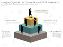 Managing Organizational Change Sample Of Ppt Presentation