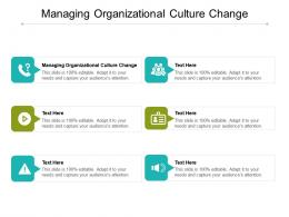 Managing Organizational Culture Change Ppt Powerpoint Presentation Infographic Template Show Cpb
