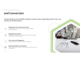 Managing Pages And Conversion Engagement Powerpoint Presentation Slides Inspiration