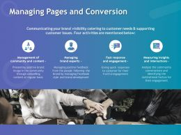 Managing Pages And Conversion Ppt Powerpoint Presentation File