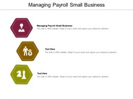 Managing Payroll Small Business Ppt Powerpoint Presentation Designs Cpb