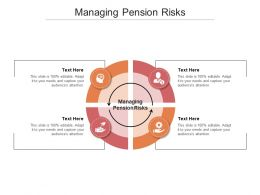 Managing Pension Risks Ppt Powerpoint Presentation Gallery Model Cpb