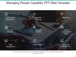 Managing People Capability Ppt Slide Template