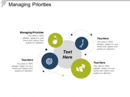 Managing Priorities Ppt Powerpoint Presentation File Ideas Cpb
