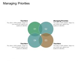 Managing Priorities Ppt Powerpoint Presentation Ideas Icons Cpb