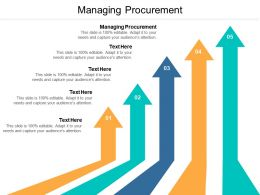 Managing Procurement Ppt Powerpoint Presentation Ideas Slides Cpb