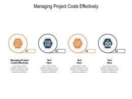 Managing Project Costs Effectively Ppt Powerpoint Presentation Layouts Aids Cpb