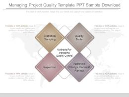 managing project quality template ppt sample download