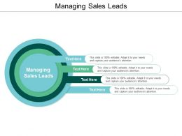 Managing Sales Leads Ppt Powerpoint Presentation Ideas Example Cpb