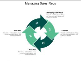 Managing Sales Reps Ppt Powerpoint Presentation Icon Guidelines Cpb