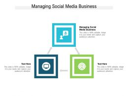Managing Social Media Business Ppt Powerpoint Presentation Infographic Cpb