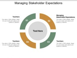 Managing Stakeholder Expectations Ppt Powerpoint Presentation Infographic Template Graphics Cpb