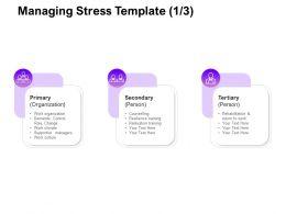 Managing Stress Role Ppt Powerpoint Presentation Slides Design Inspiration