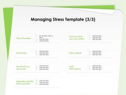 Managing Stress Template Limit Interruptions Ppt Powerpoint Presentation Background