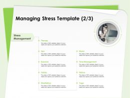 Managing Stress Template Therapy Management Ppt Powerpoint Presentation Examples
