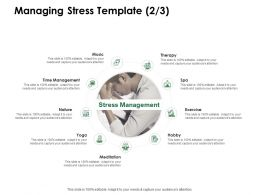 Managing Stress Template Time Management Ppt Powerpoint Presentation Outline Slides
