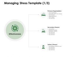 Managing Stress Template Work Organization Ppt Powerpoint Presentation Pictures