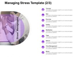 Managing Stress Time Management Ppt Powerpoint Presentation Pictures