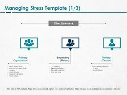 Managing Stress Training Ppt Powerpoint Presentation Professional