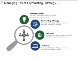 Managing Talent Formulating Strategy Strategy Organizational Market Research