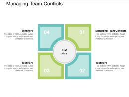 Managing Team Conflicts Ppt Powerpoint Presentation Ideas Structure Cpb