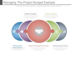 Managing The Project Budget Example