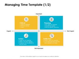 Managing Time Critical Ppt Powerpoint Presentation Pictures Design