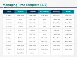 Managing Time Focus Ppt Powerpoint Presentation Model Picture