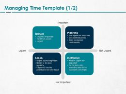 Managing Time Ineffective Ppt Powerpoint Presentation Layouts