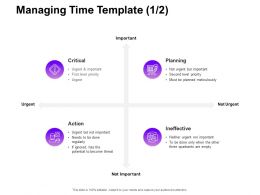 Managing Time Ineffective Ppt Powerpoint Presentation Pictures Structure