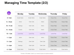 Managing Time Meetings Ppt Powerpoint Presentation File Inspiration