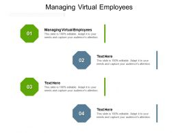Managing Virtual Employees Ppt Powerpoint Presentation Gallery Example File Cpb
