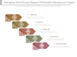 Managing Work Groups Diagram Presentation Background Images