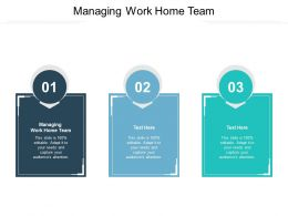 Managing Work Home Team Ppt Powerpoint Presentation Model Influencers Cpb