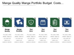 Mange Quality Mange Portfolio Budget Costs Mange Security