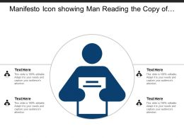 Manifesto Icon Showing Man Reading The Copy Of Statement