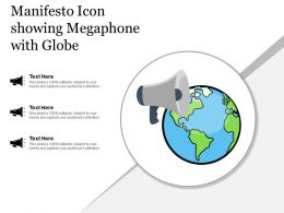 Manifesto Icon Showing Megaphone With Globe